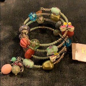 NWT. Treska. Wrap Around Colorful Charms Bracelet